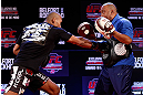 JARAGUA DO SUL, BRAZIL - MAY 16:   Ronaldo &quot;Jacare&quot; Souza conducts a workout session during media day for the UFC on FX event on May 16, 2013 at the Sociedade Cultura Artistica in Jaragua do Sul, Santa Catarina, Brazil.  (Photo by Josh Hedges/Zuffa LLC/Zuffa LLC via Getty Images)