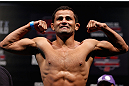 JARAGUA DO SUL, BRAZIL - MAY 17: Jussier Formiga weighs in during the UFC on FX weigh-in on May 17, 2013 at the Arena Jaragua in Jaragua do Sul, Santa Catarina, Brazil. (Photo by Josh Hedges/Zuffa LLC/Zuffa LLC via Getty Images)