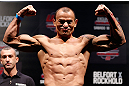 JARAGUA DO SUL, BRAZIL - MAY 17: Gleison Tibau weighs in during the UFC on FX weigh-in on May 17, 2013 at the Arena Jaragua in Jaragua do Sul, Santa Catarina, Brazil. (Photo by Josh Hedges/Zuffa LLC/Zuffa LLC via Getty Images)