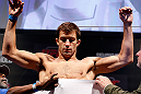 JARAGUA DO SUL, BRAZIL - MAY 17: Luke Rockhold weighs in during the UFC on FX weigh-in on May 17, 2013 at the Arena Jaragua in Jaragua do Sul, Santa Catarina, Brazil. (Photo by Josh Hedges/Zuffa LLC/Zuffa LLC via Getty Images)