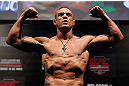 JARAGUA DO SUL, BRAZIL - MAY 17: Vitor Belfort weighs in during the UFC on FX weigh-in on May 17, 2013 at the Arena Jaragua in Jaragua do Sul, Santa Catarina, Brazil. (Photo by Josh Hedges/Zuffa LLC/Zuffa LLC via Getty Images)