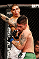 JARAGUA DO SUL, BRAZIL - MAY 18: (L-R) Lucas Martins punches Jeremy Larsen in their lightweight bout during the UFC on FX event on May 18, 2013 at Arena Jaragua in Jaragua do Sul, Santa Catarina, Brazil. (Photo by Josh Hedges/Zuffa LLC/Zuffa LLC via Getty Images)