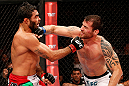 JARAGUA DO SUL, BRAZIL - MAY 18: (R-L) Joao Zeferino punches Rafael Natal in their middleweight bout during the UFC on FX event on May 18, 2013 at Arena Jaragua in Jaragua do Sul, Santa Catarina, Brazil. (Photo by Josh Hedges/Zuffa LLC/Zuffa LLC via Getty Images)