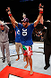JARAGUA DO SUL, BRAZIL - MAY 18: Rafael Natal reacts after defeating Joao Zeferino in their middleweight bout during the UFC on FX event on May 18, 2013 at Arena Jaragua in Jaragua do Sul, Santa Catarina, Brazil. (Photo by Josh Hedges/Zuffa LLC/Zuffa LLC via Getty Images)