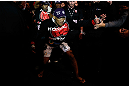 JARAGUA DO SUL, BRAZIL - MAY 18:   Ronaldo 'Jacare' Souza enters the arena before his middleweight bout against Chris Camozzi during the UFC on FX event on May 18, 2013 at Arena Jaragua in Jaragua do Sul, Santa Catarina, Brazil.  (Photo by Josh Hedges/Zuffa LLC/Zuffa LLC via Getty Images)