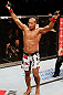 "JARAGUA DO SUL, BRAZIL - MAY 18:   Ronaldo ""Jacare"" Souza reacts after defeating Chris Camozzi in their middleweight bout during the UFC on FX event on May 18, 2013 at Arena Jaragua in Jaragua do Sul, Santa Catarina, Brazil.  (Photo by Josh Hedges/Zuffa LLC/Zuffa LLC via Getty Images)"