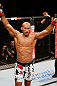 JARAGUA DO SUL, BRAZIL - MAY 18:   Ronaldo &#39;Jacare&#39; Souza reacts after defeating Chris Camozzi in their middleweight bout during the UFC on FX event on May 18, 2013 at Arena Jaragua in Jaragua do Sul, Santa Catarina, Brazil.  (Photo by Josh Hedges/Zuffa LLC/Zuffa LLC via Getty Images)