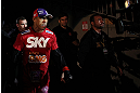 JARAGUA DO SUL, BRAZIL - MAY 18: Vitor Belfort enters the arena before his middleweight bout against Luke Rockhold during the UFC on FX event on May 18, 2013 at Arena Jaragua in Jaragua do Sul, Santa Catarina, Brazil. (Photo by Josh Hedges/Zuffa LLC/Zuffa LLC via Getty Images)
