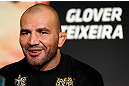 LAS VEGAS, NV - MAY 23:   Glover Teixeira interacts with media during the UFC 160 Ultimate Media Day at the MGM Grand Hotel/Casino on May 23, 2013 in Las Vegas, Nevada.  (Photo by Josh Hedges/Zuffa LLC/Zuffa LLC via Getty Images)