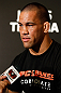 LAS VEGAS, NV - MAY 23:   James Te-Huna interacts with media during the UFC 160 Ultimate Media Day at the MGM Grand Hotel/Casino on May 23, 2013 in Las Vegas, Nevada.  (Photo by Josh Hedges/Zuffa LLC/Zuffa LLC via Getty Images)