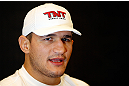 "LAS VEGAS, NV - MAY 23:   Junior ""Cigano"" dos Santos interacts with media during the UFC 160 Ultimate Media Day at the MGM Grand Hotel/Casino on May 23, 2013 in Las Vegas, Nevada.  (Photo by Josh Hedges/Zuffa LLC/Zuffa LLC via Getty Images)"
