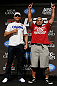 "LAS VEGAS, NV - MAY 23:   (L-R) Opponents Junior ""Cigano"" dos Santos and Mark Hunt pose for photos during the UFC 160 Ultimate Media Day at the MGM Grand Hotel/Casino on May 23, 2013 in Las Vegas, Nevada.  (Photo by Josh Hedges/Zuffa LLC/Zuffa LLC via Getty Images)"