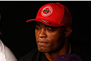 FORTALEZA, BRAZIL - JUNE 08:  UFC middleweight champion Anderson Silva is seen in the corner of Antonio Rodrigo
