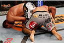 FORTALEZA, BRAZIL - JUNE 08:  (L-R) Fabricio Werdum secures an arm bar submission against Antonio Rodrigo