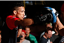 LAS VEGAS, NV - JULY 03:  Charles Oliveira holds an open training session for media and fans inside XS The Nightclub at Encore Las Vegas on July 3, 2013 in Las Vegas, Nevada.  (Photo by Josh Hedges/Zuffa LLC/Zuffa LLC via Getty Images)
