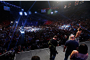 LAS VEGAS, NV - JULY 05:  A general view of the arena as Charles Oliveira weighs in during the UFC 162 weigh-in at the Mandalay Bay Events Center on July 5, 2013 in Las Vegas, Nevada.  (Photo by Josh Hedges/Zuffa LLC/Zuffa LLC via Getty Images)