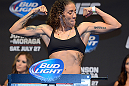 SEATTLE, WA - JULY 26:  Germaine De Randamie weighs in during the official UFC on FOX weigh-in at Key Arena on July 26, 2013 in Seattle, Washington.  (Photo by Jeff Bottari/Zuffa LLC/Zuffa LLC via Getty Images)