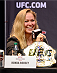 LOS ANGELES, CA - JULY 30:  UFC women's bantamweight champion Ronda Rousey interacts with the media during the UFC World Tour 2013 press conference at Club Nokia at L.A. Live on July 30, 2013 in Los Angeles, California.  (Photo by Jeff Bottari/Zuffa LLC/Zuffa LLC via Getty Images)