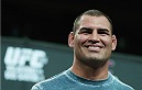 HOUSTON, TX - AUGUST 01:  UFC fighter Cain Velasquez speaks with media and fans during an open workout at the Toyota Center to promote his October 19, title fight with Junior dos Santos on August 1, 2013 in Houston, Texas.  (Photo by Scott Halleran/Zuffa LLC/Zuffa LLC via Getty Images)