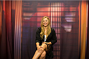 BRISTOL, CT - AUGUST 1: UFC bantamweight champion Ronda Rousey is interviewed on the Dan Lebatard Show for ESPN2 at ESPN's headquarters August 1, 2013 in Bristol, Connecticut. Rousey will fight  Miesha Tate in Decmeber in a title bout. The two were interviewed on Sportscenter, by ESPN.com, by ESPN W, on the Dan Lebatard Show, and on ESPN Deportes. (Photo by Christopher Capozziello/Zuffa LLC via Getty Images).