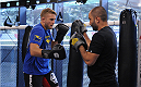 LONDON, ENGLAND - AUGUST 02:  Alex Gustafsson in training at Stars Gym during the Jon Jones and Alex Gustafsson Press Tour on August 2, 2013 in London, England.  (Photo by Christoper Lee/Zuffa LLC/Zuffa LLC via Getty Images)