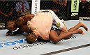 BOSTON, MA - AUGUST 17:  (L-R) Ovince Saint Preux reverses Cody Donovan after a takedown in their UFC light heavyweight bout at TD Garden on August 17, 2013 in Boston, Massachusetts. (Photo by Josh Hedges/Zuffa LLC/Zuffa LLC via Getty Images)