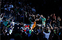 BOSTON, MA - AUGUST 17:  Conor McGregor enters the arena before his UFC featherweight bout against Max Holloway at TD Garden on August 17, 2013 in Boston, Massachusetts. (Photo by Josh Hedges/Zuffa LLC/Zuffa LLC via Getty Images)