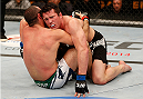 BOSTON, MA - AUGUST 17:  (R-L) Chael Sonnen and Mauricio