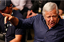 BOSTON, MA - AUGUST 17:  (L-R) New England Patriots owner Robert Kraft attends the UFC on FOX Sports 1 event at TD Garden on August 17, 2013 in Boston, Massachusetts. (Photo by Josh Hedges/Zuffa LLC/Zuffa LLC via Getty Images)
