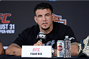 MILWAUKEE, WI - AUGUST 29:  [CAPTION] during a UFC press conference at the BMO Harris Bradley Center on August 29, 2013 in Milwaukee, Wisconsin. (Photo by Jeff Bottari/Zuffa LLC/Zuffa LLC via Getty Images)