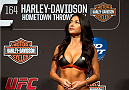 MILWAUKEE, WI - AUGUST 30:  UFC Octagon Girl Arianny Celeste stands on stage during the UFC 164 weigh-in inside the BMO Harris Bradley Center on August 30, 2013 in Milwaukee, Wisconsin. (Photo by Ed Mulholland/Zuffa LLC/Zuffa LLC via Getty Images) *** Local Caption *** Arianny Celeste
