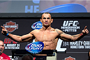 MILWAUKEE, WI - AUGUST 30:  Gleison Tibau weighs in during the UFC 164 weigh-in inside the BMO Harris Bradley Center on August 30, 2013 in Milwaukee, Wisconsin. (Photo by Ed Mulholland/Zuffa LLC/Zuffa LLC via Getty Images) *** Local Caption *** Gleison Tibau