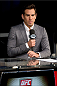 MILWAUKEE, WI - AUGUST 30:  Former UFC fighter Kenny Florian commentates on the FOX Sports desk during the UFC weigh-in inside the BMO Harris Bradley Center on August 30, 2013 in Milwaukee, Wisconsin. (Photo by Jeff Bottari/Zuffa LLC/Zuffa LLC via Getty Images) *** Local Caption *** Kenny Florian