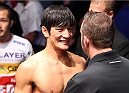 MILWAUKEE, WI - AUGUST 31:  Kyung Ho Kang enters the arena before his bout against Chico Camus (not pictured) in their UFC bantamweight bout at BMO Harris Bradley Center on August 31, 2013 in Milwaukee, Wisconsin. (Photo by Ed Mulholland/Zuffa LLC/Zuffa LLC via Getty Images) *** Local Caption ***  Kyung Ho Kang