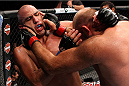 MILWAUKEE, WI - AUGUST 31:  (R-L) Ben Rothwell grabs the head of Brandon Vera in their UFC heavyweight bout at BMO Harris Bradley Center on August 31, 2013 in Milwaukee, Wisconsin. (Photo by Ed Mulholland/Zuffa LLC/Zuffa LLC via Getty Images) *** Local Caption *** Ben Rothwell; Brandon Vera