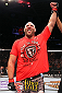 MILWAUKEE, WI - AUGUST 31:  Ben Rothwell celebrates after defeating Brandon Vera (not pictured) in their UFC heavyweight bout at BMO Harris Bradley Center on August 31, 2013 in Milwaukee, Wisconsin. (Photo by Ed Mulholland/Zuffa LLC/Zuffa LLC via Getty Images) *** Local Caption *** Ben Rothwell