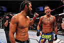 MILWAUKEE, WI - AUGUST 31:  (L-R) Benson Henderson congratulates Anthony Pettis after their UFC lightweight championship bout at BMO Harris Bradley Center on August 31, 2013 in Milwaukee, Wisconsin. (Photo by Ed Mulholland/Zuffa LLC/Zuffa LLC via Getty Images) *** Local Caption *** Benson Henderson; Anthony Pettis