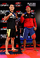 "BELO HORIZONTE, BRAZIL - SEPTEMBER 02:  (L-R) Opponents Yushin Okami and Ronaldo ""Jacare"" Souza pose for photos after an open training session for media at the Ouro Minas Palace Hotel on September 2, 2013 in Belo Horizonte, Brazil. (Photo by Josh Hedges/Zuffa LLC/Zuffa LLC via Getty Images)"