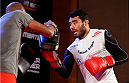 BELO HORIZONTE, BRAZIL - SEPTEMBER 02:  Rafael Natal holds an open training session for media at the Ouro Minas Palace Hotel on September 2, 2013 in Belo Horizonte, Brazil. (Photo by Josh Hedges/Zuffa LLC/Zuffa LLC via Getty Images)
