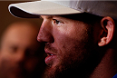 BELO HORIZONTE, BRAZIL - SEPTEMBER 02:  Ryan Bader interacts with media after an open training session for media at the Ouro Minas Palace Hotel on September 2, 2013 in Belo Horizonte, Brazil. (Photo by Josh Hedges/Zuffa LLC/Zuffa LLC via Getty Images)