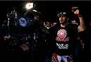 BELO HORIZONTE, BRAZIL - SEPTEMBER 04:  Glover Teixeira enters the arena before his light heavyweight fight against Ryan Bader during the UFC on FOX Sports 1 event at Mineirinho Arena on September 4, 2013 in Belo Horizonte, Brazil. (Photo by Josh Hedges/Zuffa LLC/Zuffa LLC via Getty Images)