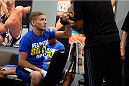 LAS VEGAS, NV - JUNE 10:  Chris Holdsworth gets his hands wrapped prior to his preliminary fight against Chris Beal (not pictured) during filming of season eighteen of The Ultimate Fighter on June 10, 2013 in Las Vegas, Nevada. (Photo by Al Powers/Zuffa LLC/Zuffa LLC via Getty Images) *** Local Caption ***Chris Holdsworth