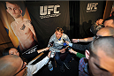 TORONTO, CANADA - SEPTEMBER 19:  UFC light heavyweight Alexander Gustafsson speaks with the media during the UFC 165 Ultimate Media Day at the Shangri-La Hotel on September 19, 2013 in Toronto, Ontario, Canada. (Photo by Jeff Bottari/Zuffa LLC/Zuffa LLC via Getty Images) *** Local Caption *** Alexander Gustafsson