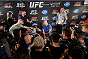 TORONTO, CANADA - SEPTEMBER 19:  UFC President Dana White speaks to the media during the UFC 165 Ultimate Media Day at the Shangri-La Hotel on September 19, 2013 in Toronto, Ontario, Canada. (Photo by Jeff Bottari/Zuffa LLC/Zuffa LLC via Getty Images) *** Local Caption *** Dana White