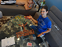 Roxanne Modafferi arranges poker chips into a masterpiece.