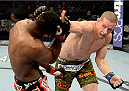 FORT CAMPBELL, KENTUCKY - NOVEMBER 6:  (R-L) Seth Baczynski punches Neil Magny in their UFC welterweight bout on November 6, 2013 in Fort Campbell, Kentucky. (Photo by Jeff Bottari/Zuffa LLC/Zuffa LLC via Getty Images) *** Local Caption ***Neil Magny; Seth Baczynski