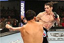 FORT CAMPBELL, KENTUCKY - NOVEMBER 6:  (R-L) Tim Kennedy kicks Rafael Natal in their UFC middleweight bout on November 6, 2013 in Fort Campbell, Kentucky. (Photo by Ed Mulholland/Zuffa LLC/Zuffa LLC via Getty Images) *** Local Caption ***Tim Kennedy; Rafael Natal
