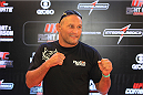 GOIANIA, BRAZIL - NOVEMBER 7: Dan Henderson poses the UFC Fight Night open workout at Buena Vista Shopping on November 7, 2013 in Goiania, Brazil.  (Photo by Weimer Carvalho/Zuffa LLC/Zuffa LLC via Getty Images)