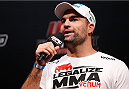 "GOIANIA, BRAZIL - NOVEMBER 08:  Mauricio ""Shogun"" Rua interacts with fans during a Q&A session before the UFC weigh-in event at Arena Goiania on November 8, 2013 in Goiania, Brazil. (Photo by Josh Hedges/Zuffa LLC/Zuffa LLC via Getty Images)"