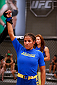 LAS VEGAS, NV - JULY 02:  Julianna Pena celebrates after defeating Sarah Moras in their semifinal fight during filming of season eighteen of The Ultimate Fighter on July 2, 2013 in Las Vegas, Nevada. (Photo by Josh Hedges/Zuffa LLC/Zuffa LLC via Getty Images) *** Local Caption *** Julianna Pena